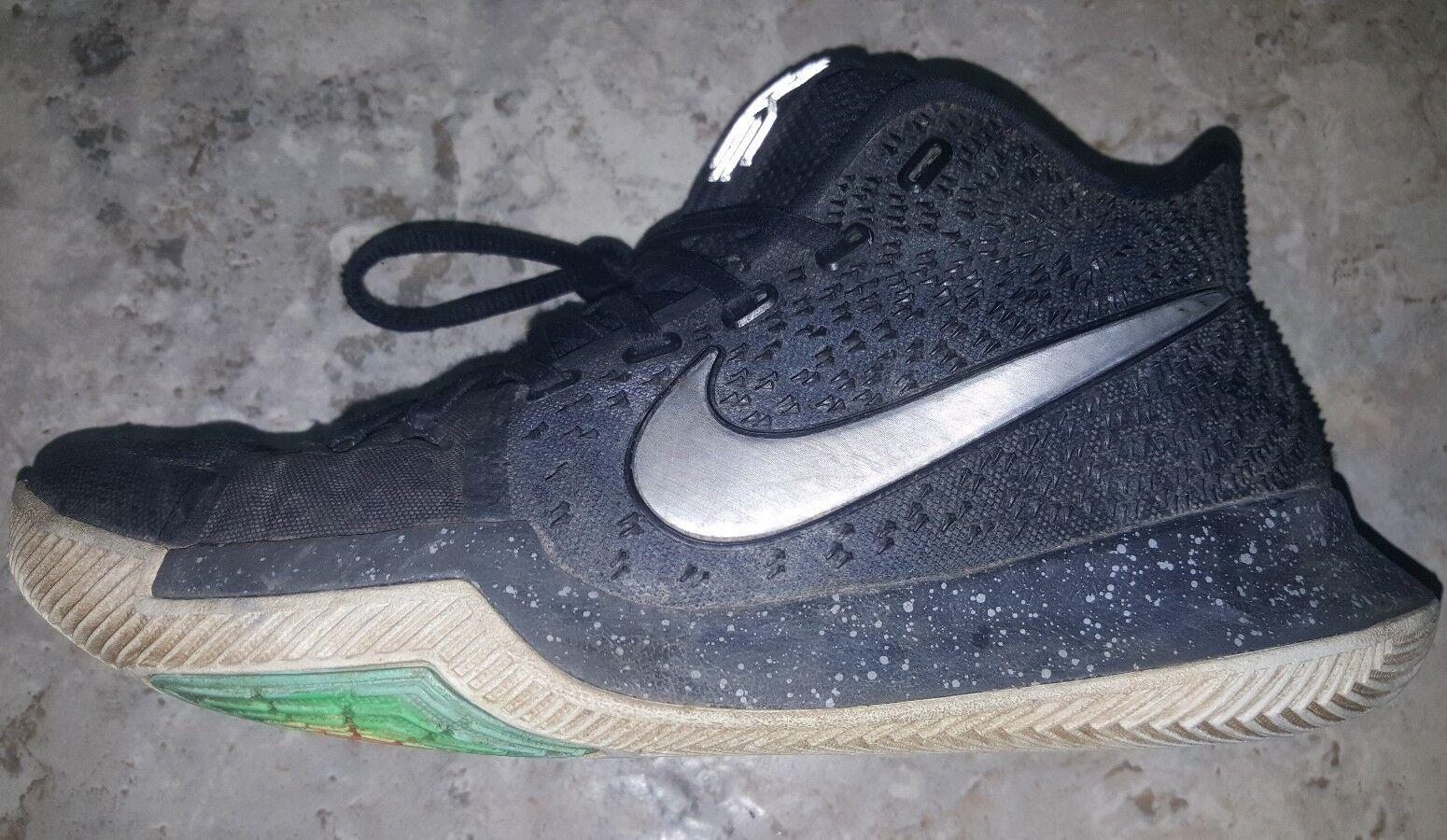 365f21d73c4d3a ... Nike Kyrie 3 Black Ice Silver White Shoes 852395 852395 852395 018  Men s US8.5