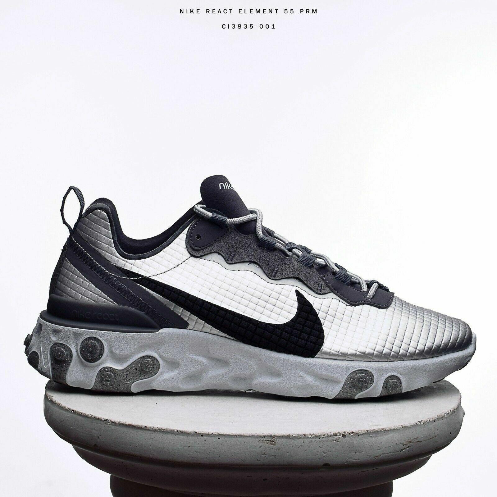 Schuhe Nike Air Max CI3835-001 React Element Silber  Pure Platin Dunkelgrau   Sw