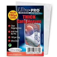 1000 Ultra Pro Thick 130pt Soft Card Sleeves 10 Packs Of 100 Sleeves