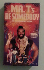 mr t MR. T's BE SOMEBODY ...  OR BE SOMEBODY'S FOOL  new edition   VHS VIDEOTAPE