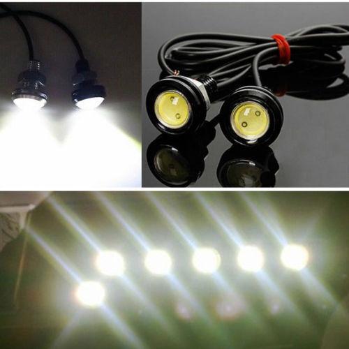 10W 12V LED Round Car Daytime Running Light DRL Head Lamp Eagle Eye White Light