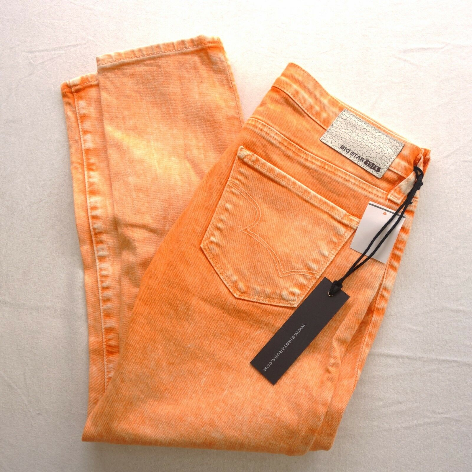 New Big Star orange Dream Skinny Ankle Jeans Low Rinse Jeans US 26