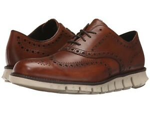 Uomo-Scarpe-Cole-Haan-zerogrand-WING-Oxford-in-Pelle-C14493-British-Tan