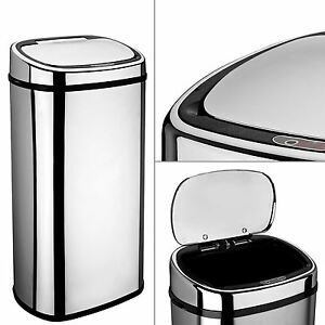 Image Is Loading Dihl 68l Stainless Steel Automatic Sensor Kitchen Bin