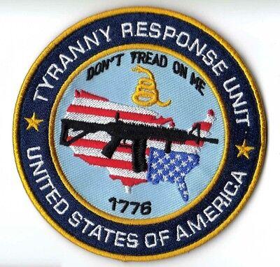 TYRANNY AND LIBERTY 3/%ER JEFFERSON USA MILITARY ARMY MORALE DESERT HOOK PATCH