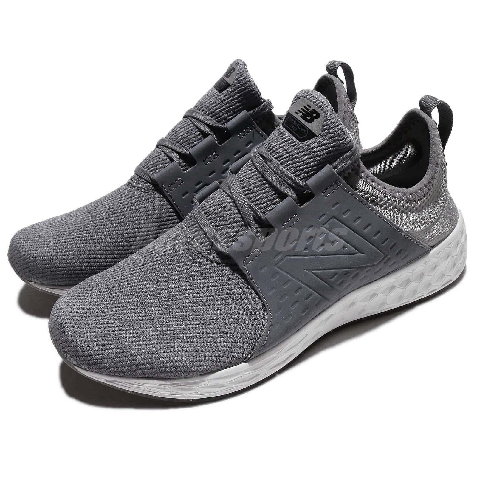 New Balance MCRUZSG D  Gris  Blanc Homme Running Chaussures Trainers Sneakers MCRUZSGD