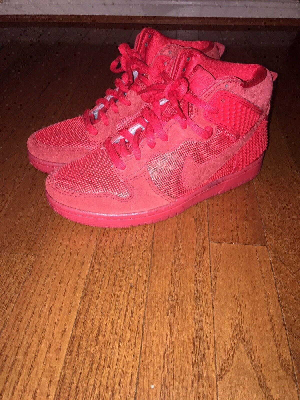 Men's Nike Dunk CMFT Premium Red October 705433-601 Light Crimson Shoes Size 6.5