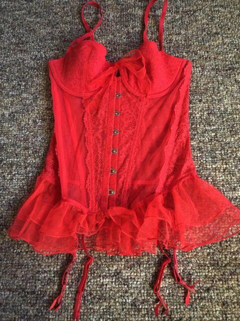 d77fca8a6 Victoria s Secret Very Ruffles Trims Garter Slip Size 34c Red Color ...