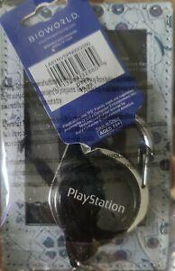 New Classic PlayStation Retractable Lanyard ID Badge Holder BioWorld Keychain