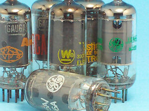 TWO-QTY-2-6AU6-6136-8425-EF84-VACUUM-TUBE-TUBE-VARIOUS-BRANDS