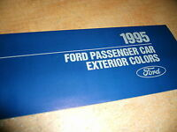 1995 Ford Mustang Thunderbird Probe Factory Ford Color Chips Chart Brochure