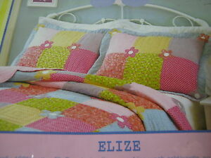 NEW-That-039-s-Mine-Standard-Handcrafted-Quilt-Pillow-Sham-034-Elize-034-Flower-Floral-NIP