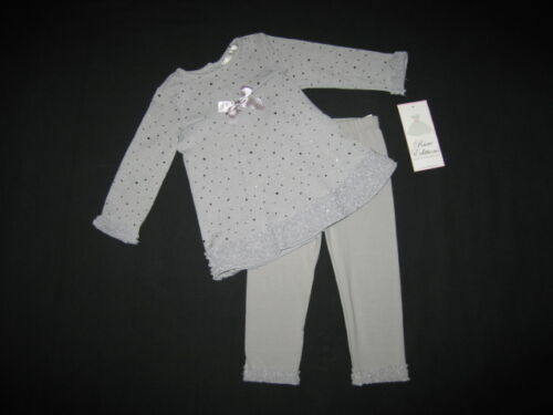 "NEW /""DAZZLING SILVER/"" Holiday Pants Girls 6-9m Fall Winter Clothes Rare Editions"