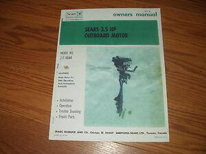 sears eska owners manual parts list outboard motor model 217 rh ebay com Eska Pedal Tractor Parts Eska Prague
