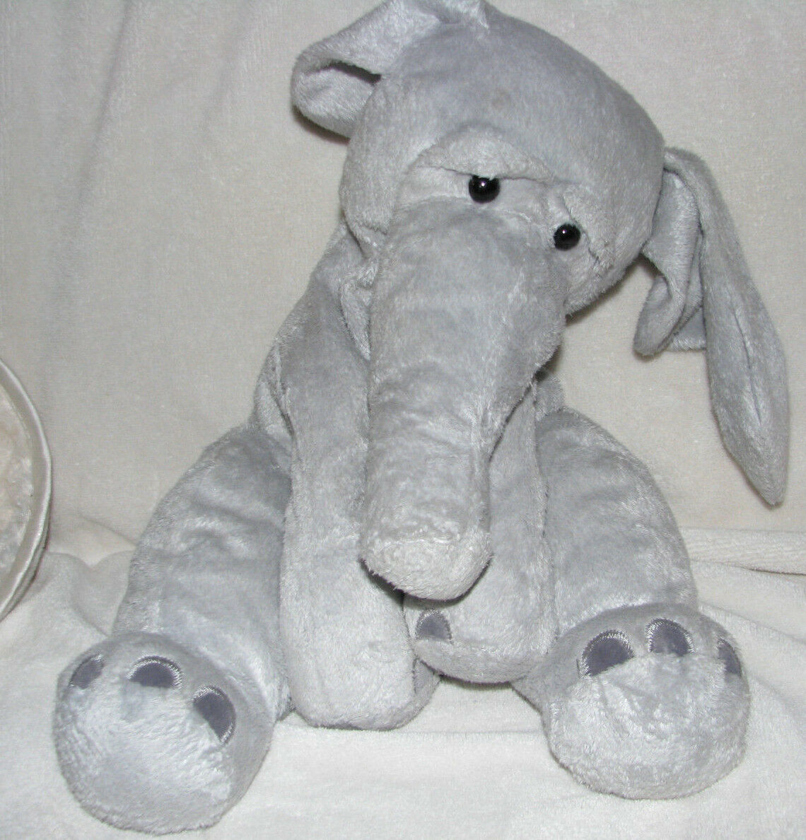NEW Manhattan Toy Ragtails Wanda Elephant soft plush floppy 14  12  Gris Chamois
