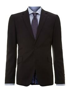 Jacket Usa £ 2 Ted 36 zwart Rrp Wool Vk 250 Baker Tailored galmag Bnwt qPIzF