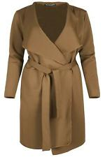 21a66e0a8c6 item 1 Plus Size Womens Oversized Waterfall Ladies Italian Belted Blazers  Duster Coat -Plus Size Womens Oversized Waterfall Ladies Italian Belted  Blazers ...
