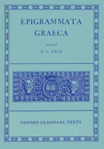 Epigrammata Graeca (Oxford Classical Texts)