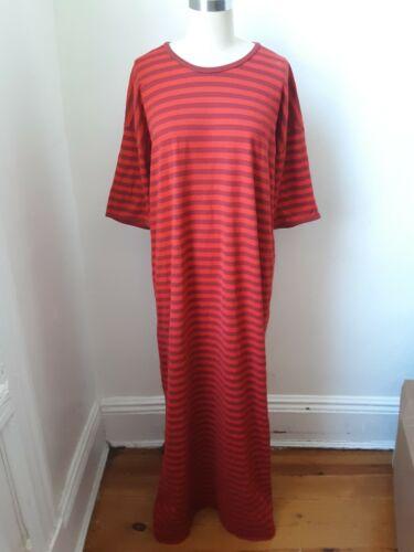 Marimekko red striped tshirt! Sz L Must Have