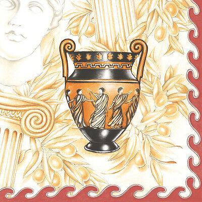 Servietten  Napkins 20 Stück Pack. Serviettentechnik  griechische Amphore   Vase