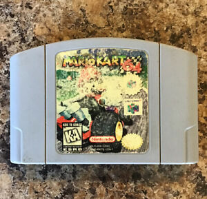 Mario-Kart-64-Nintendo-N64-Authentic-Tested-See-PICTURES