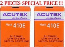 2 PZ. TESTINE ACUTEX 410 E PER GIRADISCHI INTROVABILE STYLUS FOR TURNTABLE NUOVE