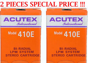 2-PZ-TESTINE-ACUTEX-410-E-PER-GIRADISCHI-INTROVABILE-STYLUS-FOR-TURNTABLE-NUOVE