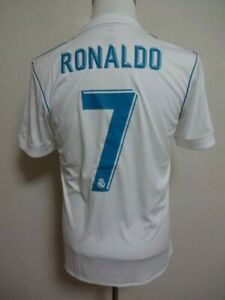 timeless design 08f56 1bc87 Details about Real Madrid #7 Ronaldo 100% Original Jersey Shirt M 2017-18  Home Good Condition