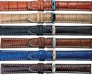Uhrenarmband-XL-UBERLANGE-Echt-Leder-LOUSIANA-Uhrenband-6-Farben-18mm-24mm-NEU
