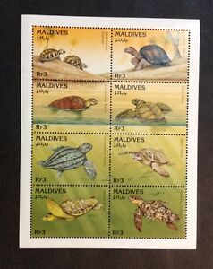 Maldive Islands VF MNH Sheet Of 8