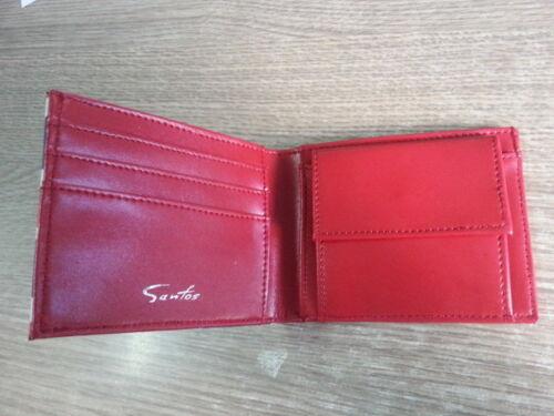 SANTOS designer homme cuir synthétique deux volets union jack portefeuille monnaie compartiment