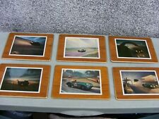JAGUAR SET OF SIX PLACEMATS  AFTER ROY  NOCKOLDS ARTWORK RARE SET
