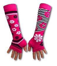 United Oddsocks Long Arm Warmer Sleeves Pink Flowers Odd Girls Fingerless Gloves
