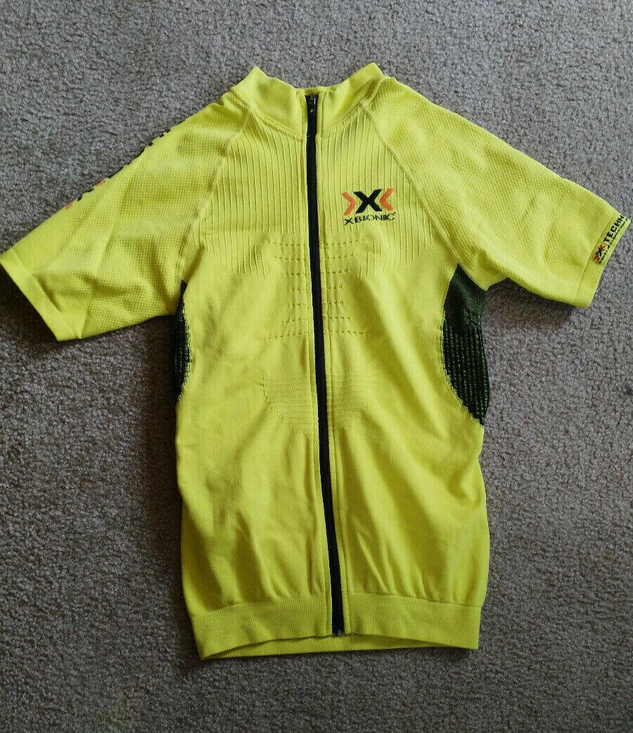 X Bionic The Trick Fahrrad shirt, Herren S, gelb schwarz, neu