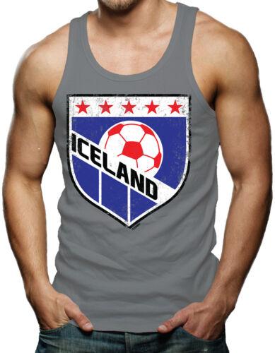 Iceland Soccer Badge World Cup futbol football Olympic Tank T-Shirt