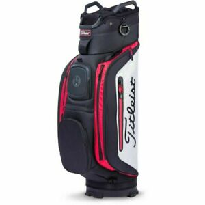 Titleist Club 14 Golf Cart Trolley Bag New With Tags     BLACK WHITE RED