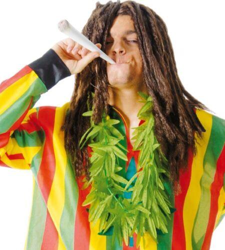 Collana di foglie di marjuana verde per travestimento drogato