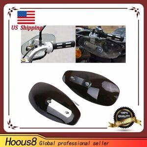 Universal-Set-Motorcycle-Smoke-Hand-Guard-Wind-Deflector-For-Harley-Yamaha-Honda