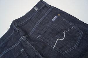 7-For-All-Mankind-bootcut-Damen-stretch-Jeans-Hose-30-32-W30-L32-darkblue-66