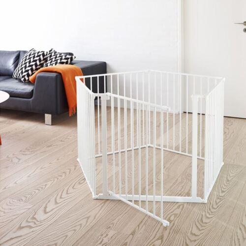 BabyDan XXL Room Divider Child Safety Gate Metal Room Divider 90-360cm White