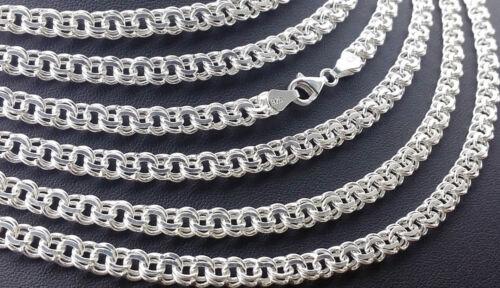 925 Sterling argento piatta Garibaldi CATENA 60 cm in puro Argento Catena Collo gioielli