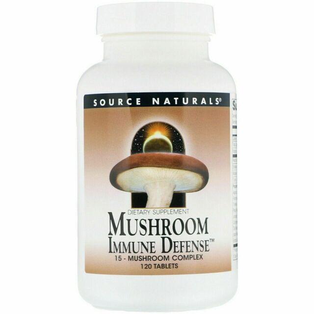 Mushroom Immune Defense, 15-Mushroom Complex, 120 Tabs, By Source Naturals