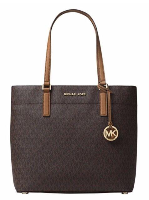 bb0bec693e Michael Kors Womens Morgan Tote Shoulder Handbag Purse Signature Logo