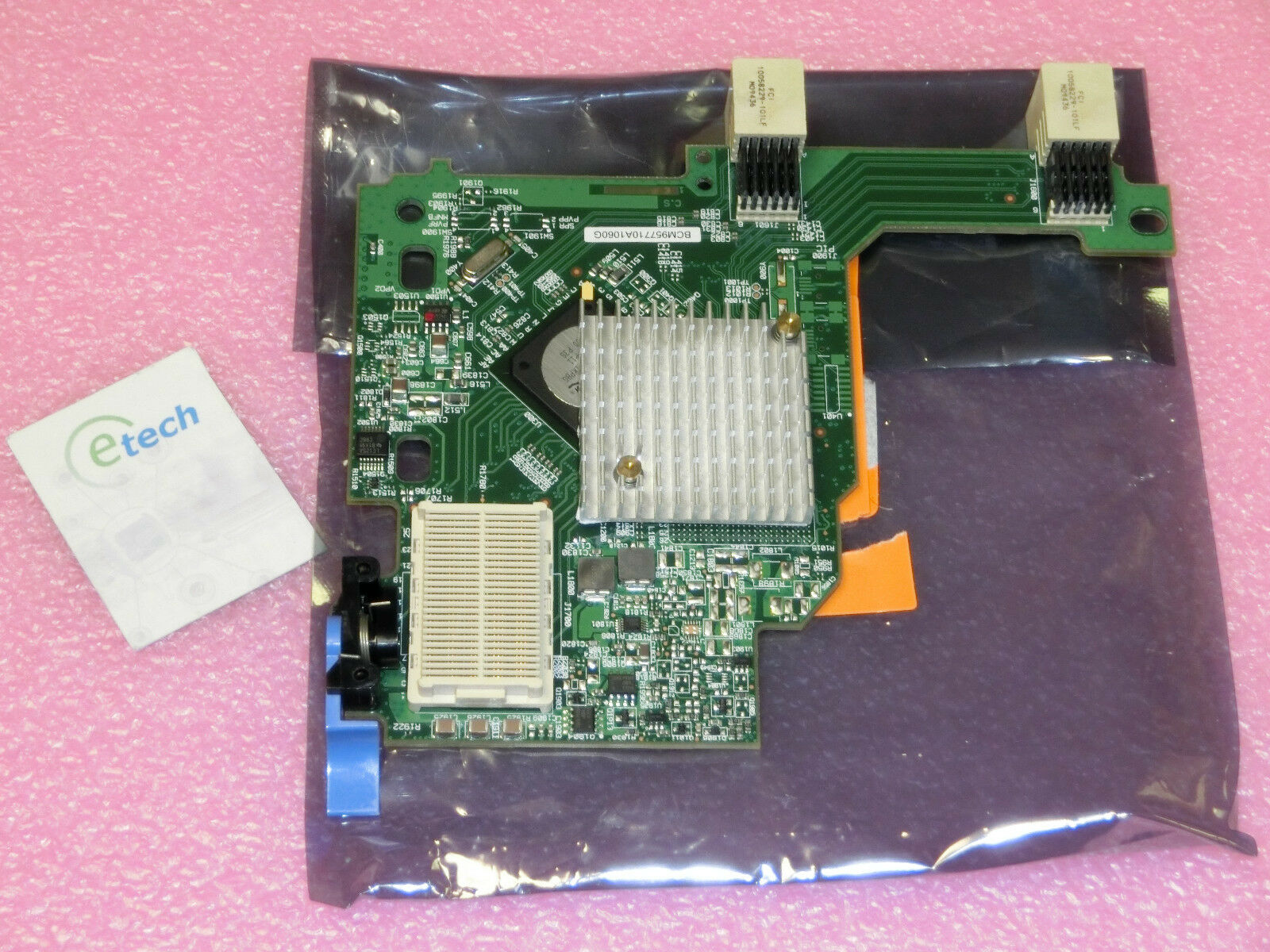 44W4466 - IBM Broadcom Dual-Port 10 Gigabit Ethernet Card CFFH HS22, FRU 44W4469