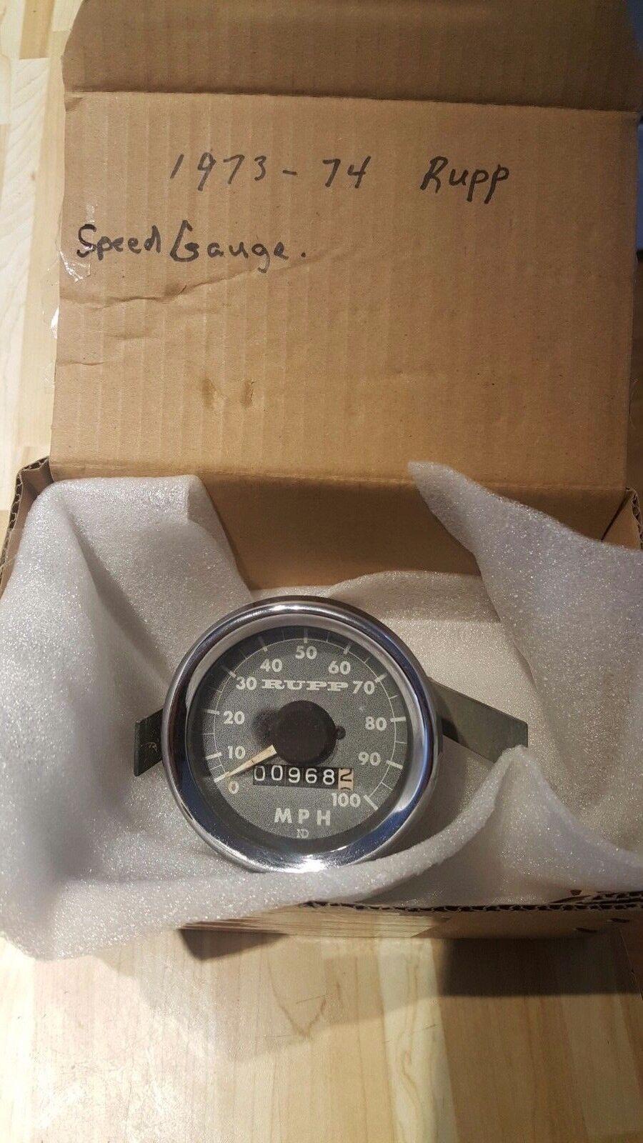 Vintage Rupp snowmobile speedometer gauge