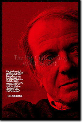 GILLES DELEUZE ART PRINT PHOTO POSTER GIFT QUOTE FRENCH PHILOSOPHY