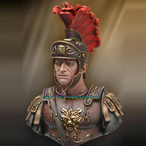 Unpainted-1-10-Scale-Roman-soldier-Bust-Model-Guard-officer-Garage-Kits-Statue