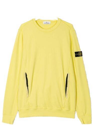681660744 YELLOW Stone Island Junior Logo Patch Embellished Sweat-Shirt
