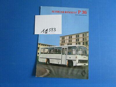 MetóDico N°12573 / Prospectus Autocar Renault P36 Carrosserie Heuliez