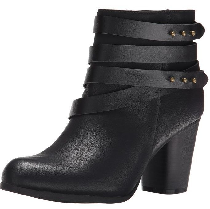 NEW MADDEN GIRL DELUXX BLACK ANKLE BOOTS WOMENS 10 BLOCK HEEL ZIP SIDE FREE SHIP